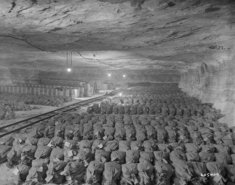 Nacistické zlato uložené ve slané dolu Merkers