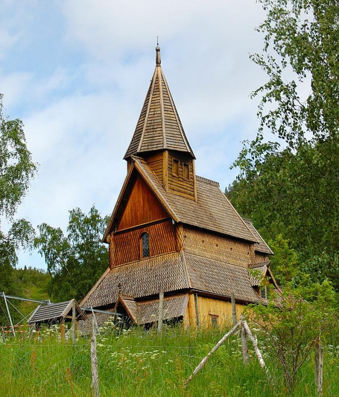 Dřevěný kostel v Urnesu