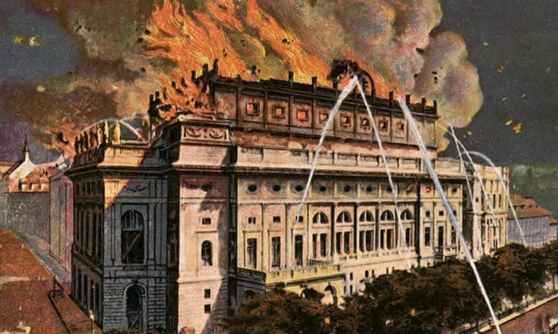 Požár Národního divadla 12. srpna 1881