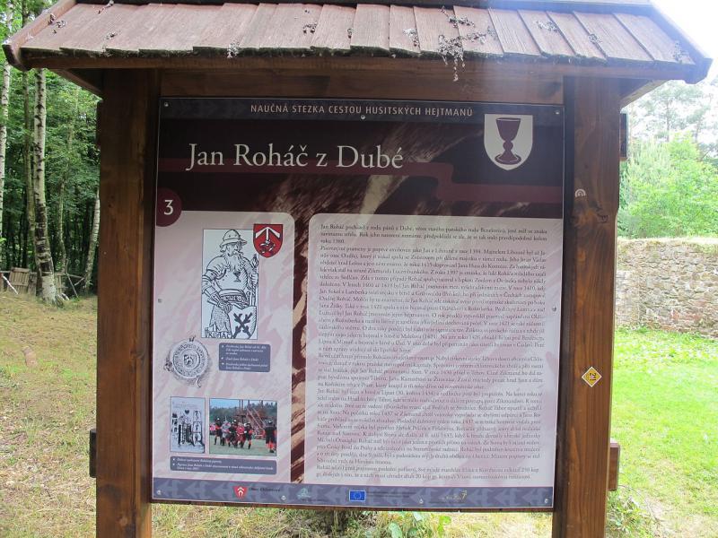 Informační cedule o Janu Roháči