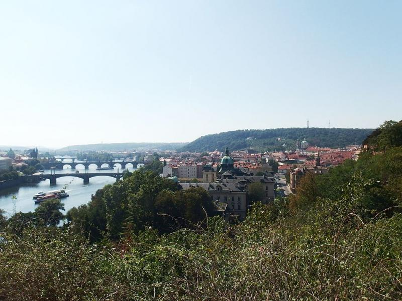 Výhled z Letenských sadů