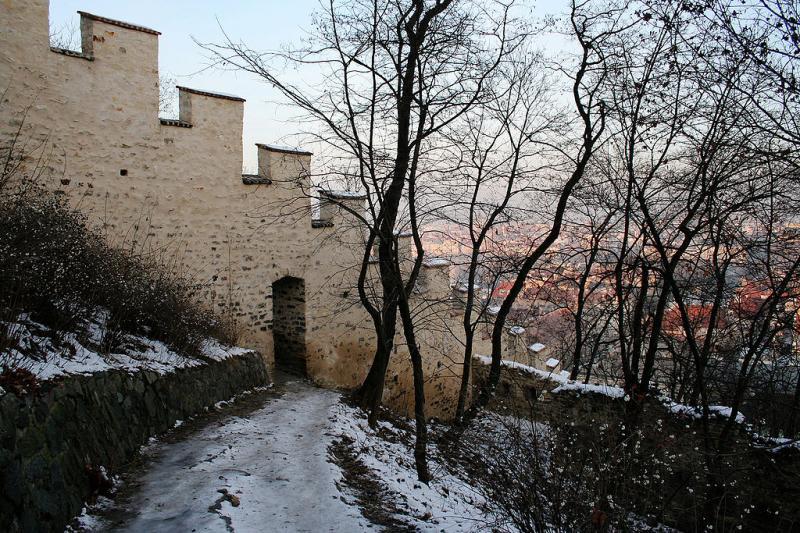 Část Hladové zdi na Petříně
