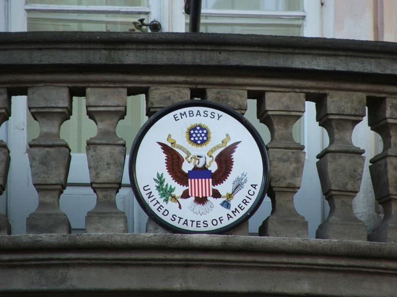 Detail na Americké velvyslanectví v České republice