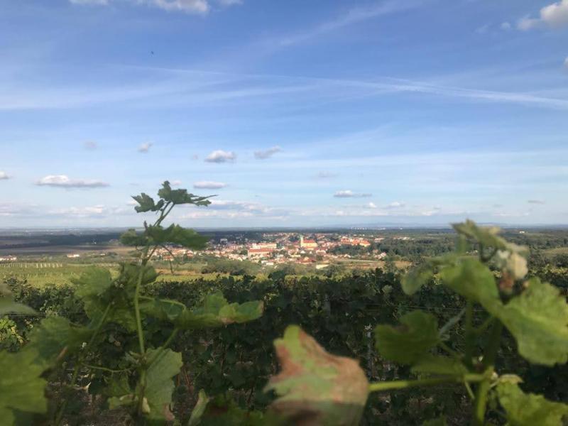 Výhled z kolonády za jasného počasí