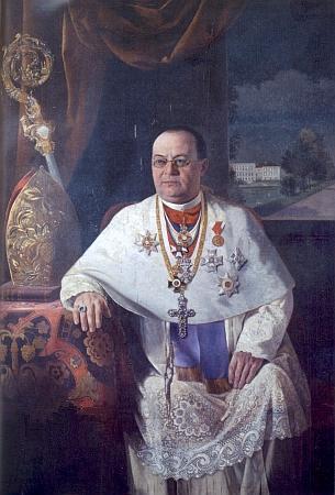 Opat Gilbert Helmer OPraem, portrét od malíře Antona Wallera
