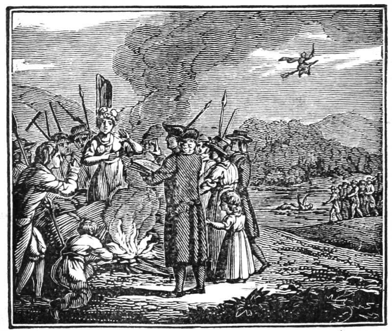 Ilustrace z 19. století z doby čarodějnické éry