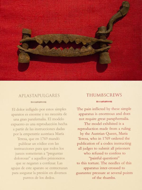 Palečnice - středověký mučicí nástroj