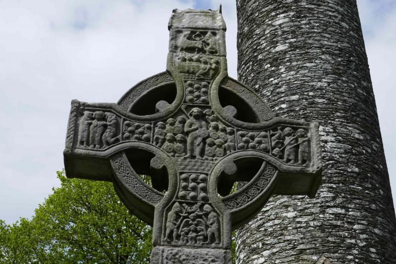 Keltský kříž v klášteře Monasterboice